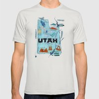 UTAH Mens Fitted Tee Silver SMALL