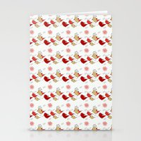 Cute Birds Pattern Stationery Cards