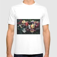 Garland Mens Fitted Tee White SMALL