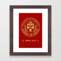 The Student Prince -  University of St Andrews School of Magic Framed Art Print