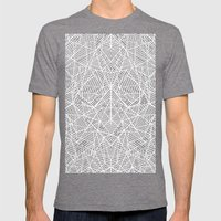 Abstract Lace On Grey Mens Fitted Tee Tri-Grey SMALL