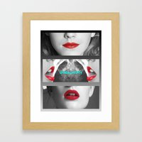 Lips Framed Art Print