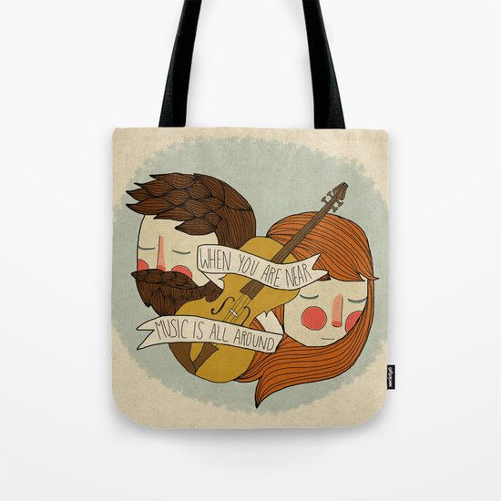 Music Is All Around Tote Bag