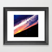 Swedish midsummer sky Framed Art Print