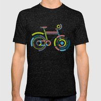 Bicyrcle Mens Fitted Tee Tri-Black SMALL
