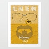 breaking bad Art Prints featuring BREAKING BAD by Vloh