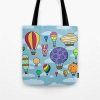 Happy Hot Air Balloons Tote Bag