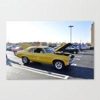 Yellow Car Canvas Print