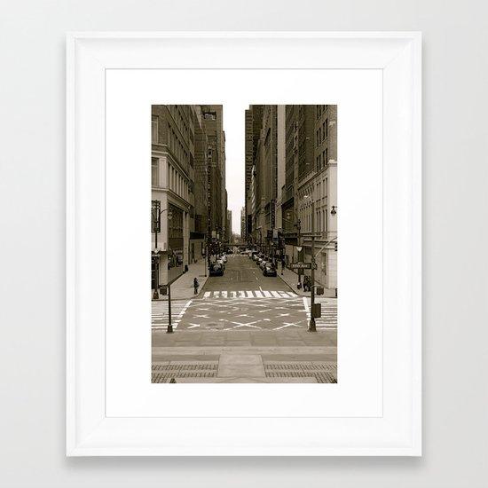 """""""fifth ave"""" Framed Art Print"""