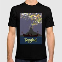 Tangled Mens Fitted Tee Black SMALL