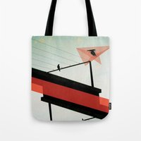 across the grey Tote Bag