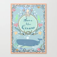 Save The Oceans Canvas Print