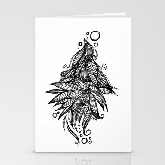 Ornate tangle wave form Stationery Card