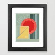 Framed Art Print featuring Geometry #4 by Threadzone