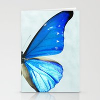 butterfly Stationery Cards featuring Butterfly by noirblanc777