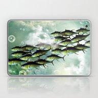 Fish Shoal Laptop & iPad Skin