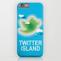 iPhone & iPod Case featuring Twitter Island by Mumble