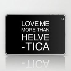 Love Helvetica Laptop & iPad Skin