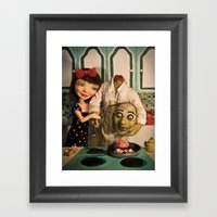 Cooking With Heart Framed Art Print