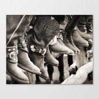 Cowboy Spectators Canvas Print