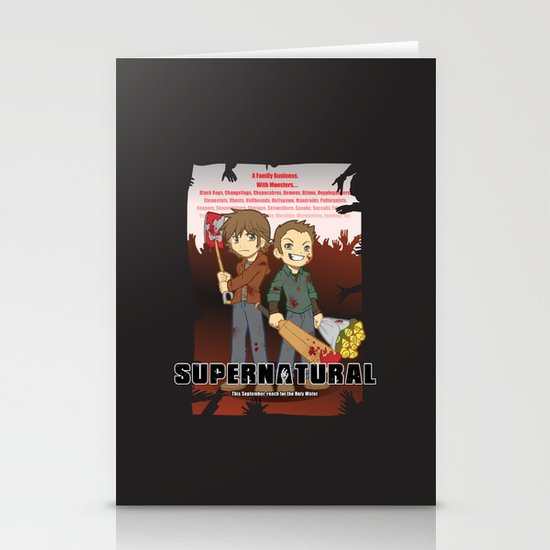Supernatural - Goin to the Winchesters Stationery Card