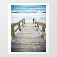 Florida Beach Walkway Art Print