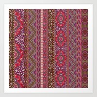 Farah Stripe Red Art Print