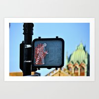 Should I Cross? Art Print
