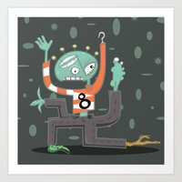 Crazy Alien Art Print