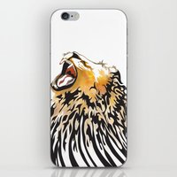 lion barcode iPhone & iPod Skin