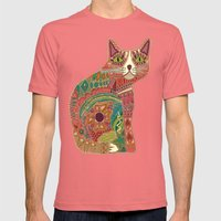 Sugar Cat Mens Fitted Tee Pomegranate SMALL