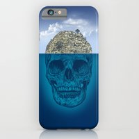 skull iPhone & iPod Cases featuring Skull Island by Rachel Caldwell