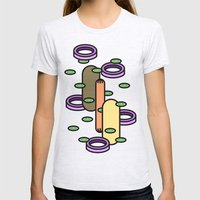 Hot Dog Womens Fitted Tee Ash Grey SMALL