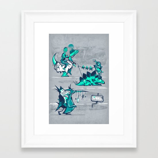 Post Human Caravan Framed Art Print