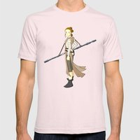 Rey x Miyazaki Mens Fitted Tee Light Pink SMALL