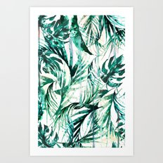 Green Tropical paradise  Art Print