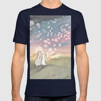 Sunset Fairies Mens Fitted Tee Navy SMALL