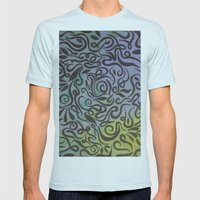 Blue Vines  Mens Fitted Tee Light Blue SMALL