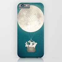 iPhone Cases featuring moon bunnies by Laura Graves