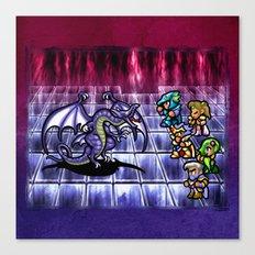 Final Fantasy Bahamut Battle  Canvas Print