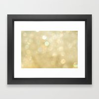 Bokeh Series - Gold Dust Framed Art Print