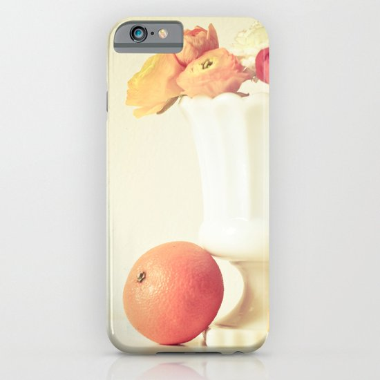 Milk Glass, Tangerine and Flowers iPhone & iPod Case
