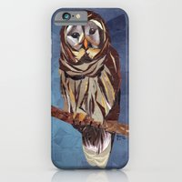 iPhone & iPod Case featuring Owl by GiGi Garcia Collages