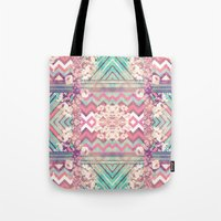 Floral Mirror Tote Bag