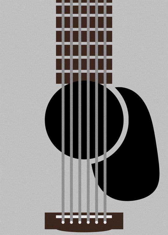 Minimalist Guitar Art Print