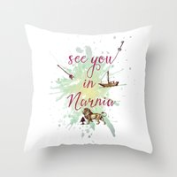 See You In Narnia Throw Pillow