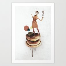 These Burgers Are Crazy … Art Print