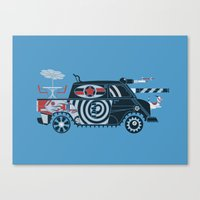 Vantastic Tank Girl Canvas Print