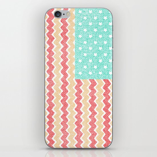 Zig Zag Flag. iPhone & iPod Skin