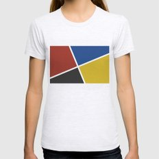abstract geometry bauhaus background Womens Fitted Tee Ash Grey SMALL